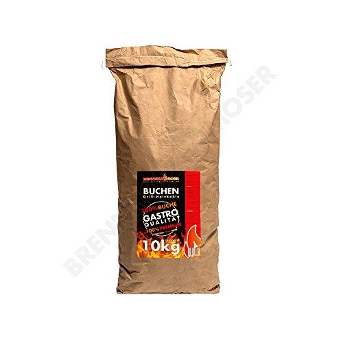 Holzkohle Buche für BBQ Grillkohle Extra groß 10kg Buchenholzkohle Gastro Qualität Nicht für Lotus Grill Geeignet - Stücke Sind zu groß Ideal für Gastronomie 1x 10kg Sack Versandkostenfrei