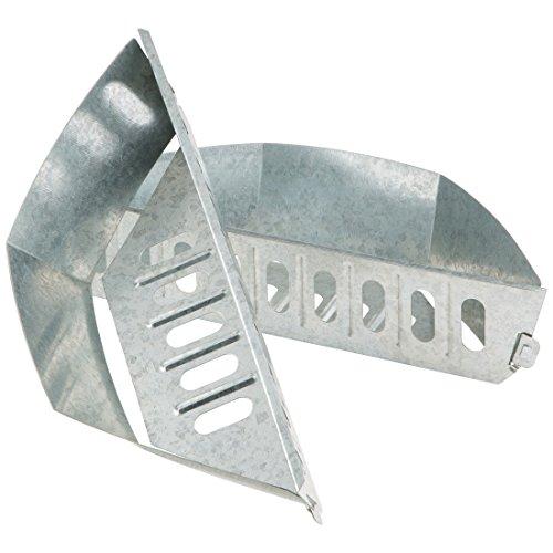 Bruzzzler Kohlekorb für Kugelgrill Kohleschale für den Grill Holzkohlekörbe Char-Baskets Holzkohle Briketthalter für indirektes Grillen 2-er Set