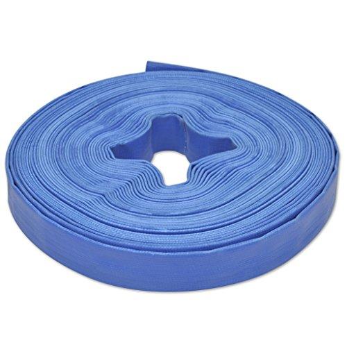 vidaXL Wasser Flachschlauch 25m 1 Flexibler PVC Feuerwehr Gartenschlauch