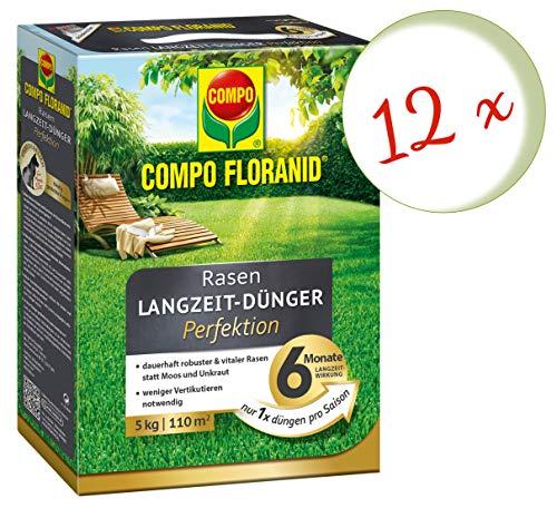 Oleanderhof Sparset 12 x COMPO Floranid Rasen-Langzeitdünger Perfektion 5 kg  gratis Oleanderhof Flyer