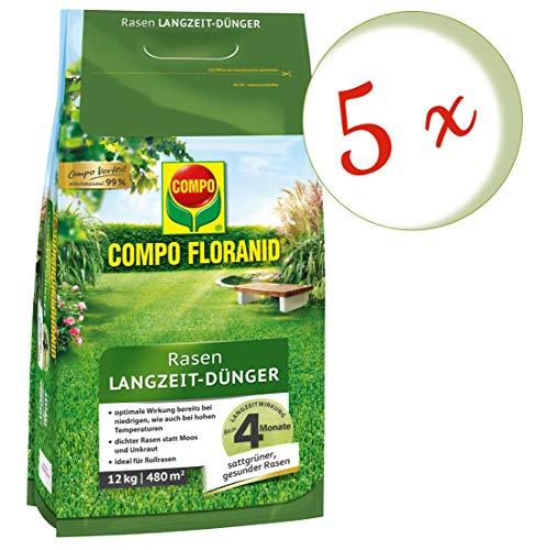 Oleanderhof Sparset 5 x COMPO Floranid Rasen-Langzeitdünger 12 kg  gratis Oleanderhof Flyer