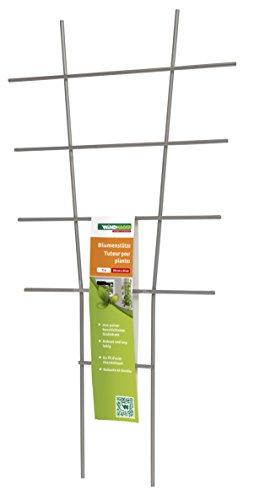 Windhager Blumenstütze Rankhilfe Gitterspalier Rankgitter für Topfpflanzen Metall grau 77 x 34 cm 05709