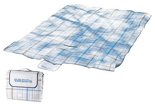 PEARL Campingdecke Wasserdichte XXL-Picknick-Decke aus Fleece 25 x 2 m Wasserdichte Picknickdecken