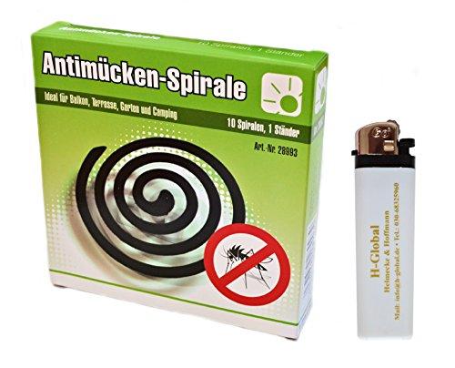 10er Pack Anti-Mücken-Spiralen Mückenabwehr Insektenabwehr  Feuerzeug