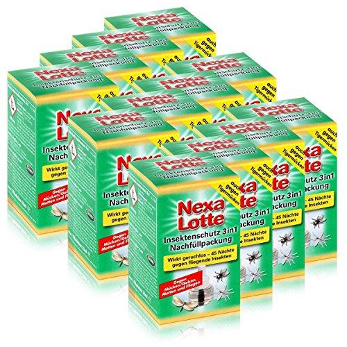 12 x Nexa Lotte Nachfüllpackung für Insektenschutz 3 in 1 Mückenabwehr