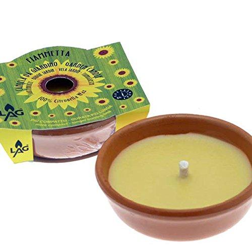 Citronella Kerze in Terracotta Schale Brenndauer 5h  Ø 115 cm Gartenkerze zur Mückenabwehr Duftkerze Anti-Mücken-Kerzen Duftlichter Zitrone Outdoor Garten