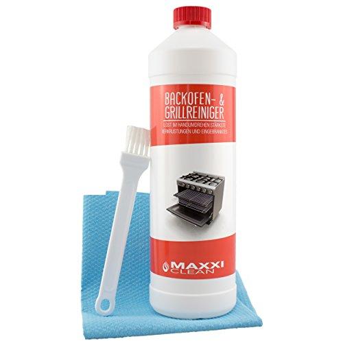 Maxxi Clean Backofenreiniger 1000 ml Gel Paste inkl Backofen- und Grillreiniger Pinsel  Bonus Maxxi Clean agPLUS Fleece