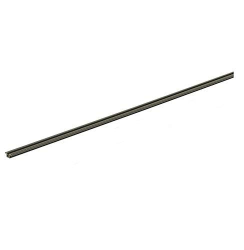 Gedotec Laufschiene für Schranktür Schiebetürbeschlag für Glas-Tür Führungsschiene für Holz-Tür - Slide Line 55  Kunststoff braun  2000 mm  1 Stück