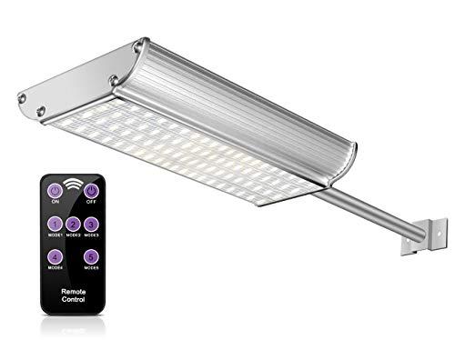 ECHTPower 70 LED Solarleuchte Solarlampe Garten Bewegungsmelder Wand Außen Leuchte Beleuchtung Licht IP65 wasserdicht weiß Alu 5 Modi