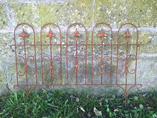 Gerry Beetzaun Gartenzaun Windsor Rankhilfe Metall Eisen Rost Deko 58cm hoch x 81cm lang