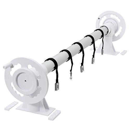 Zelsius - Aluminium Aufrollsystem für Solar und Pool Planen und Abdeckungen von 300 bis 570 cm Above ground Poolaufroller