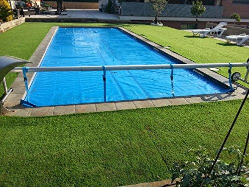 Aufroller Pool Abdeckung Solarfolie Schwimmbad max 42 Meter Edelstahl und Aluminium Mit Minderer Kraft
