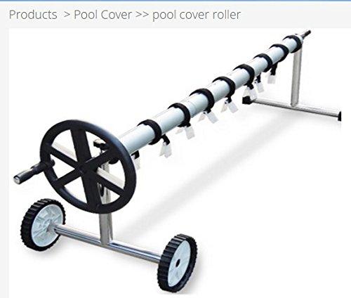 Aufroller Pool Abdeckung Solarfolie Schwimmbad max 72 Meter Edelstahl und Aluminium