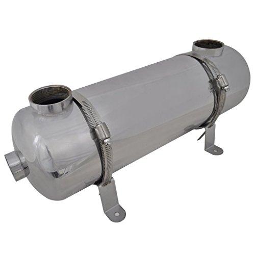 vidaXL Schwimmmbadwärmetauscher 485x134mm 60kW Pool Wärmetauscher Heizung