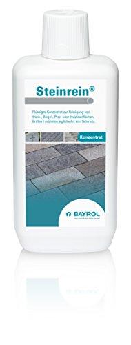 BAYROL Steinrein Konzentrat - Reinigung von Stein Ziegel Putz oder Holzoberflächen rund um den Pool - Säurefrei und chlorfrei - 1 L