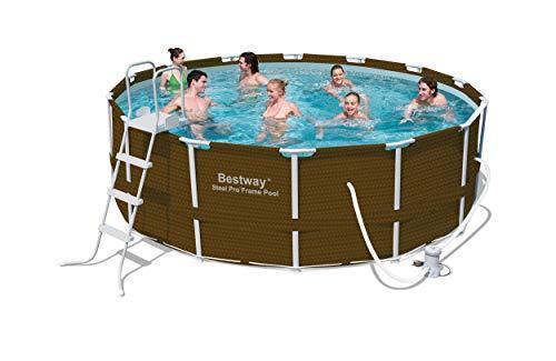 Bestway 12801NL-02 Frame Pool Set 427 x 122 cm Premium Rattanoptik 7-teilig