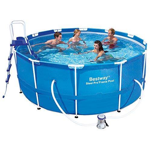 Bestway 56088 Frame Pool Steel Pro Set mit Filterpumpe  Zubehör 366 x 122cm