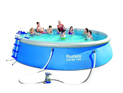 Bestway Fast Set Pool mit Filterpumpe und Zubehör blau 549 x 122 cm