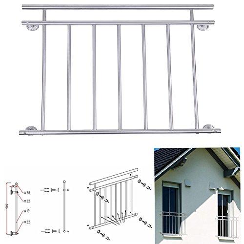 Paneltech 100  128 x 90cm Durable Französischer Balkon Balkongeländer Edelstahl Französisch Edelstahl Balkon Geländer Korridor  Fenster Fencing Balustrade Treppenhandlauf 100cm