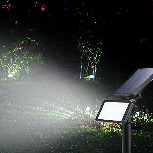 FVTLED Solar LichterGarten Lichter48 LED Solarleuchten is Dawn Automatische EinAusLicht SensorWasserfest IP65Solar Flutlicht Licht für Rasen Garten Pool Terrasse