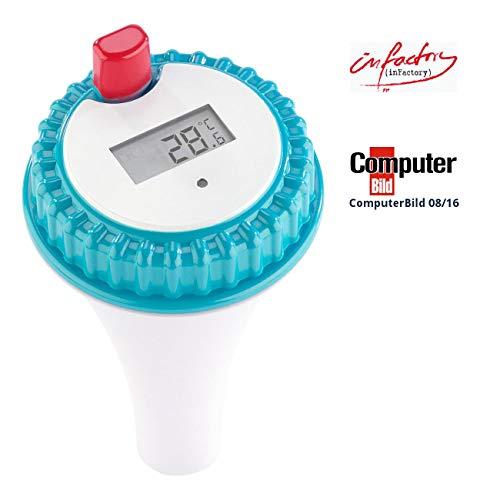 infactory Zubehör zu Poolthermometer Wassertemperatur-Sensor für PT-300 Teich Thermometer mit Fühler