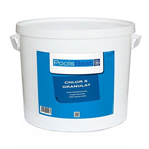 10 Kg - PoolsBest Chlorgranulat S schnelllöslich 56 Aktivchlor organisch