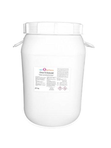 well2wellness Chlor S Granulat - schnell lösliches Chlorgranulat mit über 60 Aktivchlor im 25 kg Fass