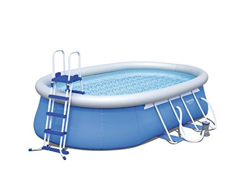 Bestway Steel Pro Oval Frame Pool  Set mit Filterpumpe  Zubehör 549 x 366 x 122cm