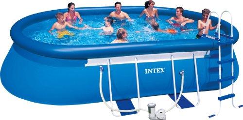 Intex Aufstellpool Oval Frame Pool Set TÜVGS Blau 549 x 305 x 107 cm