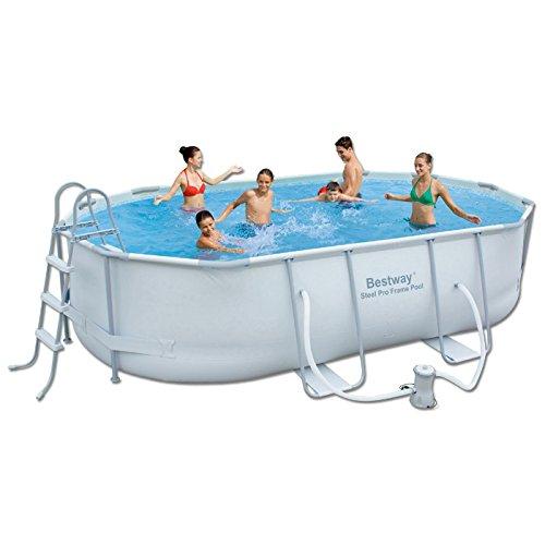 Oval Pool mit 488x305x107H cm Rostfrei Rahmen 56296