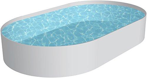 Schwimmbecken Oval Pool Lugano 350 x 700 x 150m