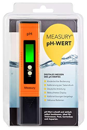 Measury pH Messgerät Wasser pH Tester Pool - pH Wert Messgerät für Urin pH-Wert messen Aquarium - pH Meter Digital Messer