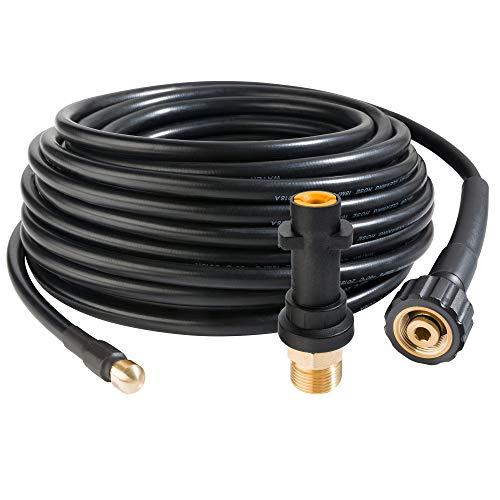 Arebos Rohrreinigungsschlauch 15 m  180 barGeeignet für HochdruckreinigerInklusive Adapter für Bajonett-Anschluss