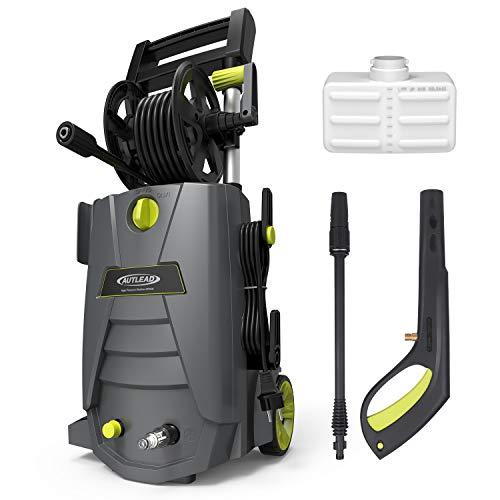 Hochdruckreiniger Autlead HP02A 1800W 140 bar 468 LH Elektrischer Hochdruckreiniger mit solidem Griff Schlauchtrommel Reinigungsmitteltank Schlauchanschlussfilter für Haushalt Garten Auto
