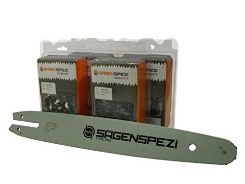 Sägenspezi 30cm Schwert 11mm 38PM 4 Halbmeißelketten passend für Stihl MS191 MS192 MS 191 MS 192 T