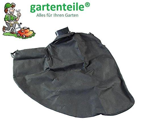 gartenteile Laubsauger Fangsack passend für Atika LSH 2600 Elektro Laubsauger Laubbläser Auffangsack für Laubsauger mit eckigem Anschluss und Reißverschluss zum entleeren