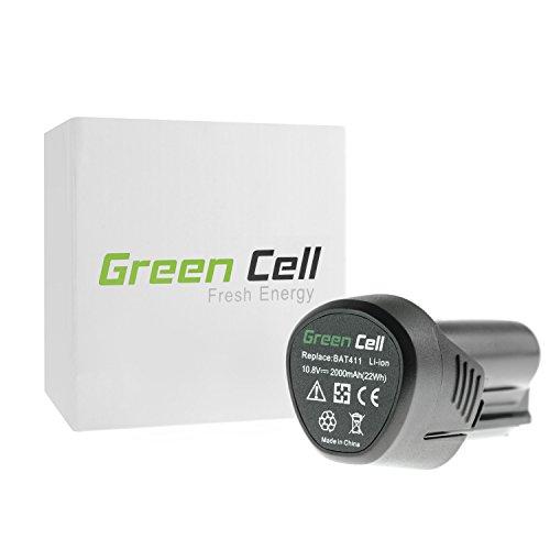 Green Cell Werkzeug Akku für Bosch GSR 12V-15 PanasonicSanyo Li-Ion Zellen 2 Ah 108V