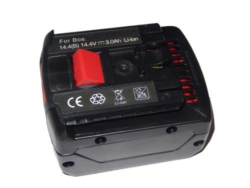 vhbw Akku 3000mAh 144V für Werkzeug Bosch GSR 144 VE-2-LI GSR 144 V-LI GSR 144 V-LIN GSR 144 V-LIN2 GSR 144-2-LI GSR 1440-LI