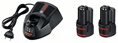 Bosch Professional 12V Akku Starter-Set 2 x GBA 2 5 Ah Akkukapazität Ladegerät AL 1130 CV in Karton kompatibel mit 10 8V 1600A004ZP