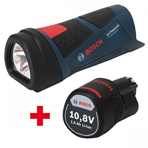Bosch LED Akkulampe GLI 108 Power LED  1x Akku 108 V 15AH 0601437U00  1600Z0002W