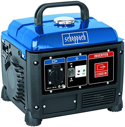 Scheppach Inverter Stromerzeuger 1200W Notstromaggregat mit 5h Laufleistung 42L Tank - 230V Anschluss geeignet für empfindliche Geräte wie Ladegeräte Laptops etc - SG1200