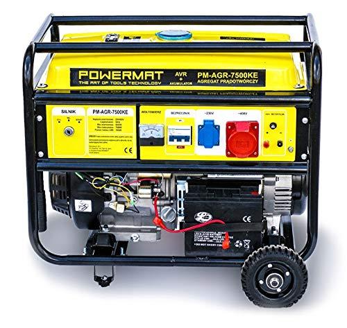 Stromaggregat Notstromaggregat Stromerzeuger Generator 7500W 400V 12V 75kW