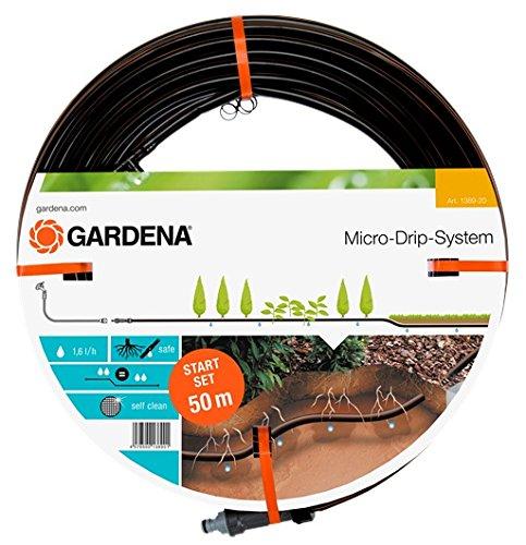 GARDENA Start-Set Tropfrohr für Pflanzenreihen unterirdisch 137 mm Wassersparender Tropfschlauch zur gezielten gleichmäßigen Bewässerung 1389-20