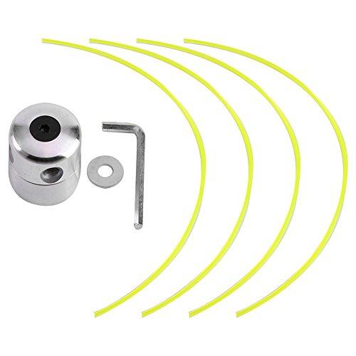 Aluminium Gras Trimmer Kopf Trimmer Kopf Spool Set mit 4 Linien Freischneider Kopf für Benzin Gras Freischneider