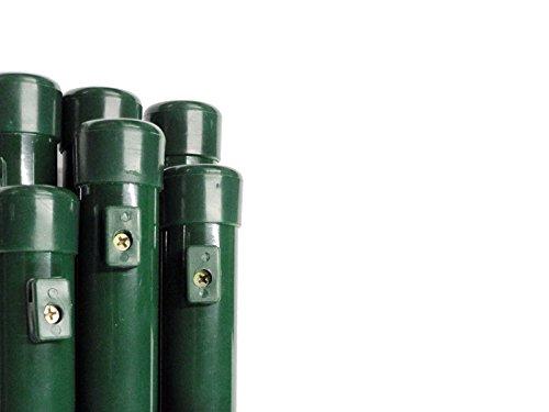 Pfosten Zaunpfosten Steher Rohrpfosten Rundpfosten Maschendrahtzaun Ø 34 mmLänge 150 cm - für Zaunhöhe 100 cm Paket á 6 Stk