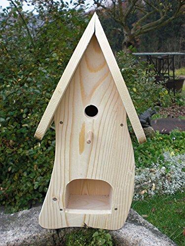 Dekorativer NistkastenNB1-mit Vogelfutterhaus zum selbst bauen-Bausatz-Vogelhaus-Vogelhäuschen-Vogelhaus Garten Deko