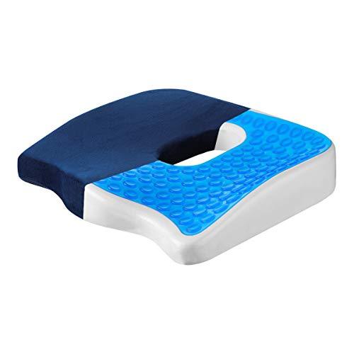 MOHOO Sitzkissen Stuhlkissen Schwamm gelkissen Bodenkissen Orthopädisches Sitzkissen wärmeableitender Atmungsaktiv waschbaren Anti-Rutsch Kissen Bezug Schmerzreduzierend Müdigkeit linder