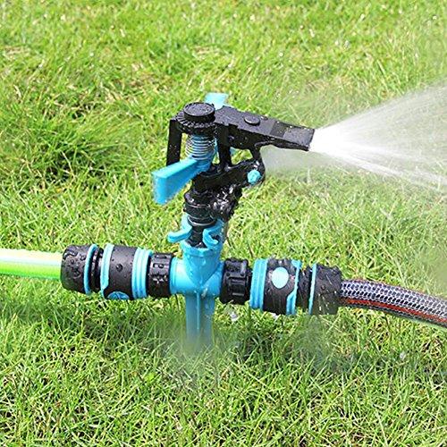 360°rotierender RasensprengerHomeYoo Garten Sprinkler Rasen Wasser Sprinkler