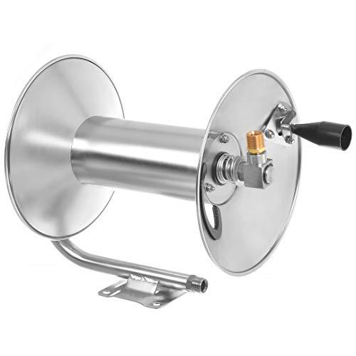 Hochdruck Schlauchtrommel INOX Edelstahl 350bar für 60m Schlauch für Kärcher HD HDS Hochdruckreiniger