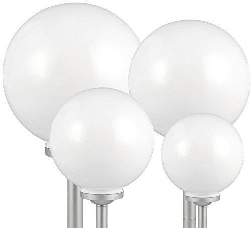 4er Set Outdoor LED Solar Kugel Leuchte Deko Lampe IP44 8hrs Beleuchtung Erdspieß
